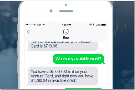 Bots and Brands: Capital One bot Eno