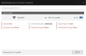 Bitdefender wifi security