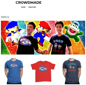 crowdmade smg4 merch
